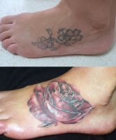 Rose cover up by tatuato