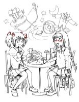 homumado in cafe by Hanna-YA