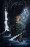 Link in the Catacombs Colored by bamf27art