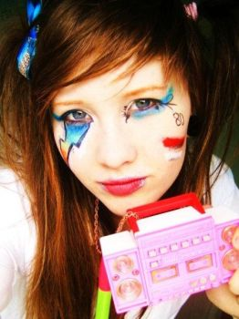80's makeup by porcelain-nightmare