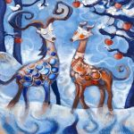 winter deers by libelle