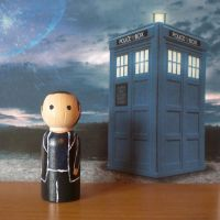 The Ninth Doctor peg doll by jen-random