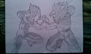 Goku Vs. Majin Vegeta by RuokDbz98