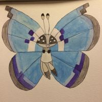 Vivillon Watercolor: Marine by mashonem