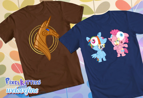 New Official My Little Pony Shirts by PixelKitties