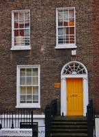 yellow door by burcyna