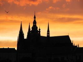 Cathedral at sunset by QmP3L