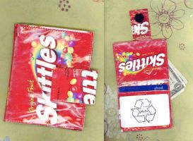 Skittles Candy Wrapper Wallet by RyuuseiHime