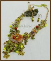 Ladybugs of Pompeii Necklace by wildhorse63