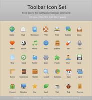 Toolbar Icon Set by shlyapnikova