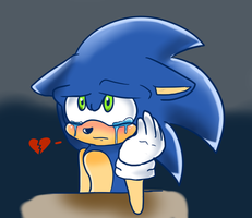 Depressed Sonic :C by greenwolfs12