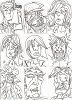 Chew Sketch Cards Inks by nathanobrien