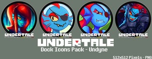 Undertale Dock Icons Pack - Undyne by courage-and-feith