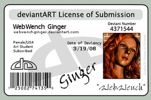 License of Submission by webwenchginger