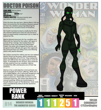 Wonder Woman TAS - Doctor Poison Redesign Profile by Femmes-Fatales