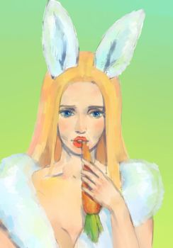Fantasy  Hare-Girl (scetch) by Nianemis