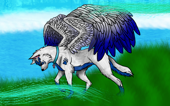 Ghost The Winged Wolf by Primefantasy7