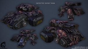 Infested Siege Tank by ArmoredWolfArt