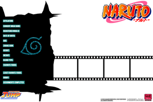 .:*Naruto: Bio Card Template*:. by dreamchaser21