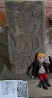 Teddy loki and the Kirkby Stephen Loki stone. by Iglybo