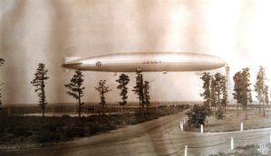 ZR1-USS Shenandoah at high mast Lakehurst 1925 by FCARVALLO