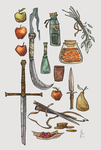 Item Sketches by Nafah