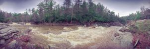 Linville Falls Panorama II by seenew