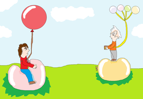 Chris and Hurley Human Form Balloon Fun by SuperdragonFeuragon