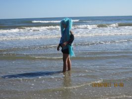 Miku: Suprised In the Water by Jessipoodle