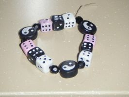 pink black and white dices by MadeByJanine