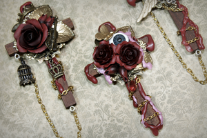 Cathedral Brooches 1 and 3 by Necrosarium