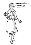 Inktober Day 4 - Elizabeth (Bioshock) by Drawings-By-Alicia