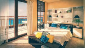 A Beach House's Bedroom by myaeonfluxproject