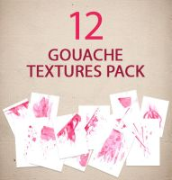 12 Gouache textures pack by Iskander1989