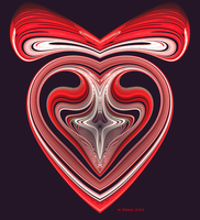 Candy Cane Heart by PzzPod