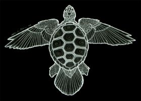Flight of the Sea Turtle by theSlink