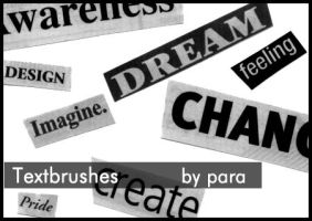 Newspaper Text Brushes by GMpara
