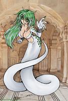 Silver and Green Naga Girl by Evon-Adaunt