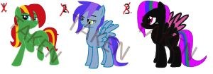 Adoptable Ponies - CLOSED by EctoPhantomiix