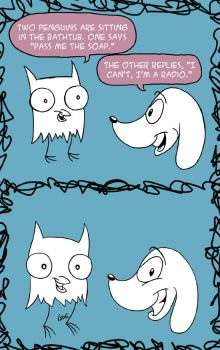 Owl and Dog Comic by cozmictwinkie