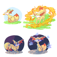 PKMNation: Commission - Ember learns moves by Owleri