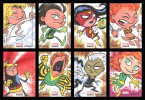 BRONZE AGE sketchcards 025-032 by thecheckeredman