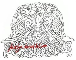 Hugin and Munin outlines by Feivelyn