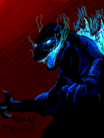 Tegaki Godzilla by big-black-and-scary