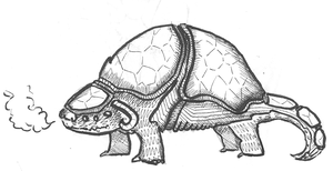 Armadillo-creature by Hempuli