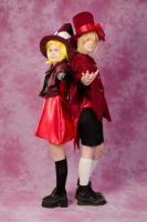 Come with us... Rin and Len Kagamine cosplay by tutti-chan