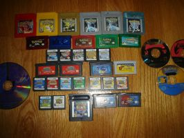 My Pokemon game collection by MonochromePixel