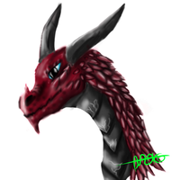 Red Dragon - Lineless by Grace-Winters