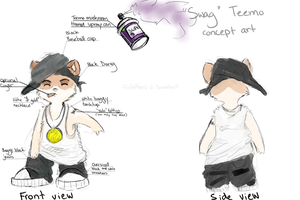 Swag Teemo concept art by FireFlufferz