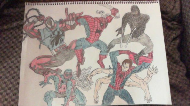 Spiderman x5 by SweetL3w